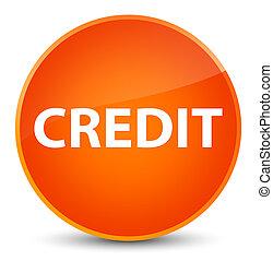 Credit elegant orange round button