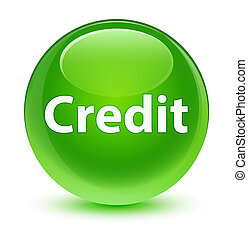 Credit glassy green round button
