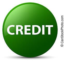 Credit green round button