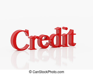 Credit - High resolution image symbol. 3d illustration over ...
