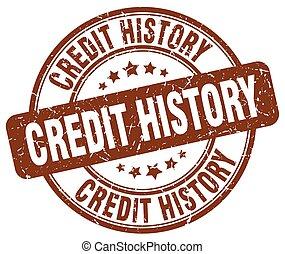 credit history brown grunge round vintage rubber stamp