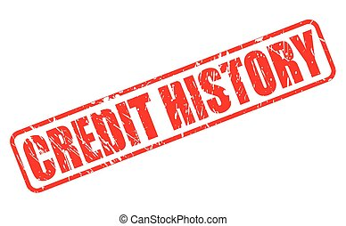 Credit history red stamp text