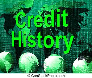 Credit History Represents Debit Card And Bankcard