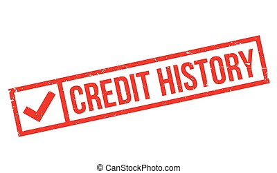 Credit History rubber stamp