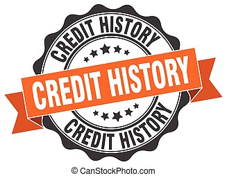 credit history stamp. sign. seal