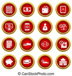 Credit icon red circle set