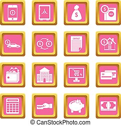 Credit icons pink