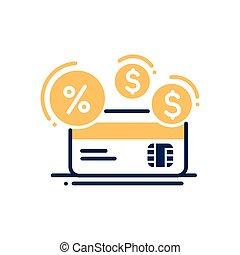 Credit - modern vector line design icon.