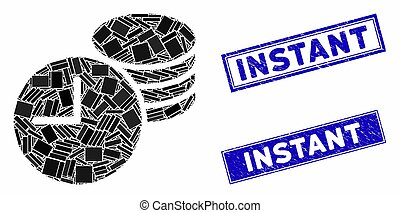 Credit Mosaic and Grunge Rectangle Instant Seals - Mosaic ...