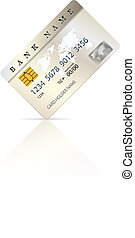 Credit or debit card design template. Vector illustration