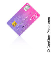 Credit or debit card design template. Vector illustration