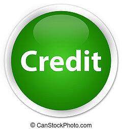 Credit premium green round button