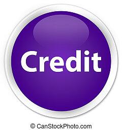 Credit premium purple round button