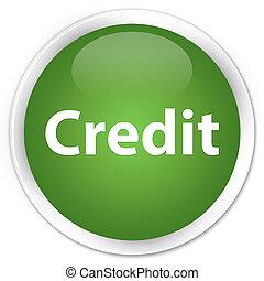 Credit premium soft green round button