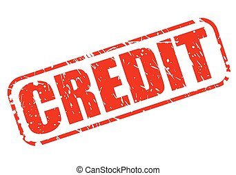CREDIT RED STAMP TEXT