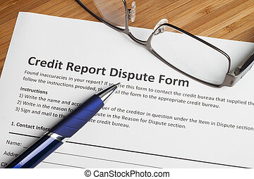 Credit report dispute score