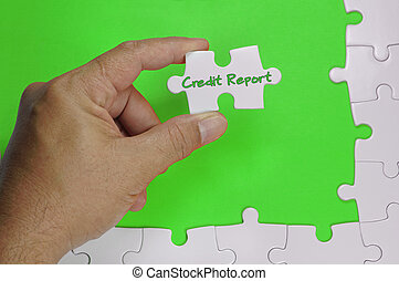 Credit Report Text - Business Concept