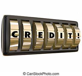 Credit Safe Lock Dials Apply Loan Borrow Money Accepted