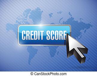 credit score button illustration design