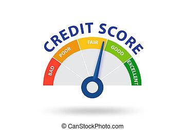 Credit score concept - 3d rendering - The credit score ...