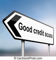 Credit score concept.