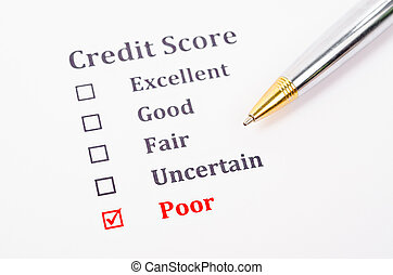 Credit score form.