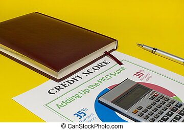 Credit score report with calculator