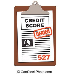 Credit Score Report with Clipboard