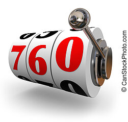 Credit Score Slot Machine Wheels Great Number Apply Loan -...