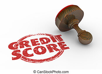 Credit Score Top Rating Apply Loan Stamp Words 3d Illustration