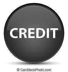 Credit special black round button