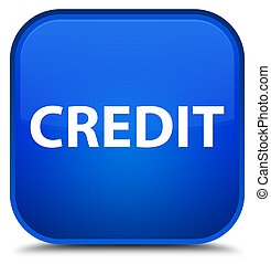Credit special blue square button