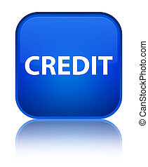 Credit special blue square button