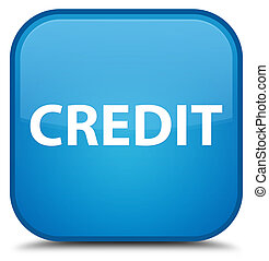 Credit special cyan blue square button
