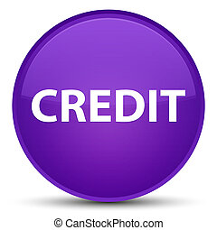 Credit special purple round button