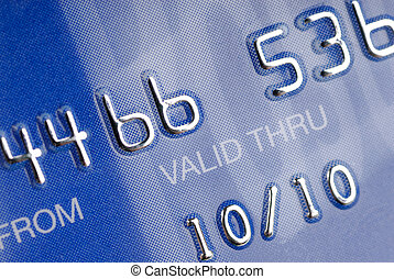 Credit - Part from a credit card.