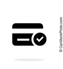 credito, acceso, fondo., blanco, tarjeta, icono