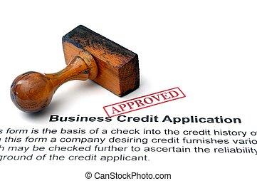 credito, affari, domanda