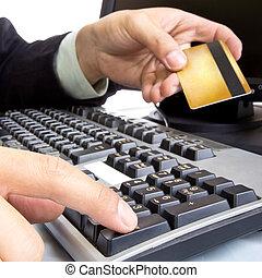 credito, pago, durante, tarjeta, utilizar
