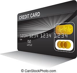 credito, perspectiva, tarjeta