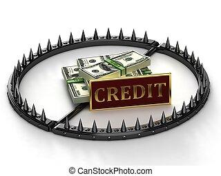 credito, resumen, esclavitud, imagen