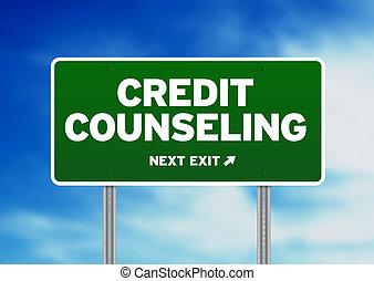 credito, señal, asesoramiento, camino