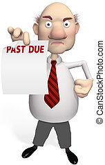 creditor bill collector holds debt statement - A mean...