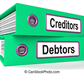 Creditors Debtors Files Shows Lending And Borrowing -...