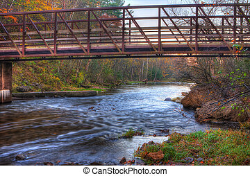 Creek and Bridge in HDR
