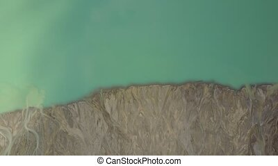 Creek flowing into Peyto Lake, Banff National Park, Alberta...
