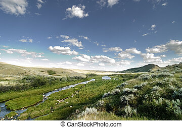 Creek Hills - Swift Current Creek near Stewart Valley, in...