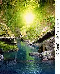 Creek in rocks
