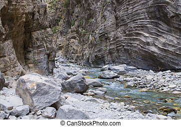 Creek in Samaria Gorge, Crete, Greece