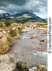 Creek in Tierra del Fuego, Argentina